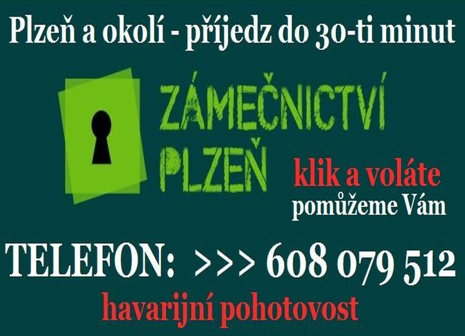 Zámečnictví - služby zámečníka Plzeň a okolí