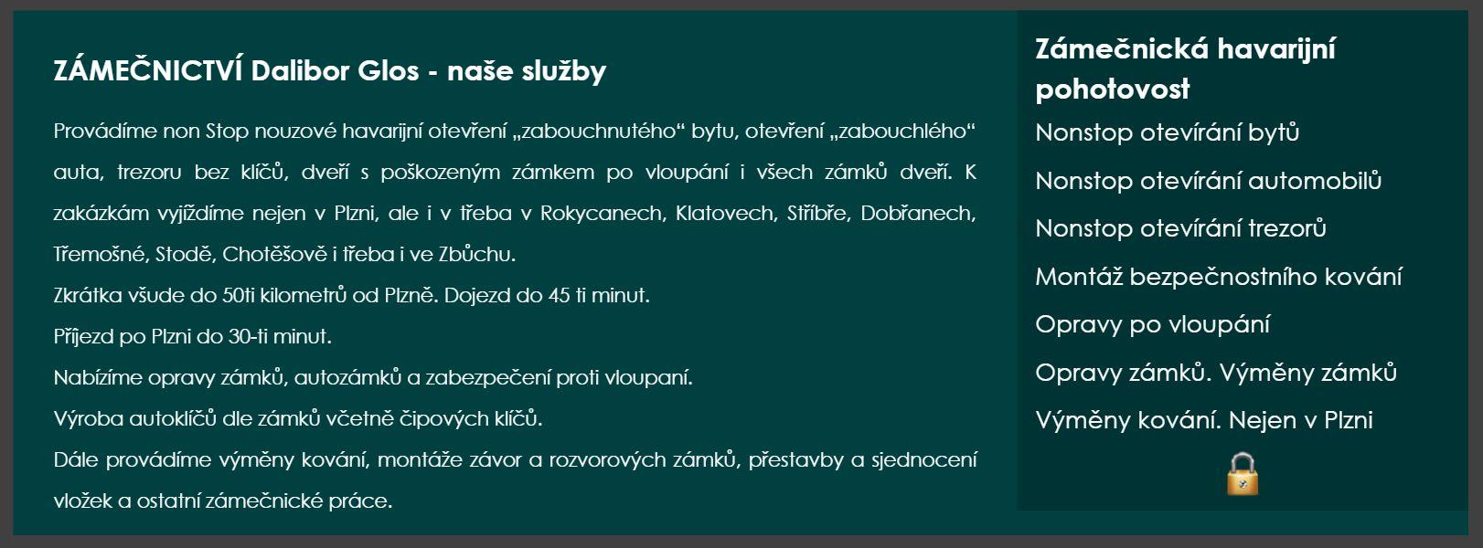 Zámečnická pohotovost Plzeň non stop zámečník v Plzni